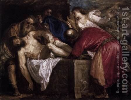 Entombment by Tiziano Vecellio (Titian) - Reproduction Oil Painting