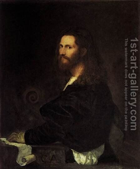 Portrait of a Musician by Tiziano Vecellio (Titian) - Reproduction Oil Painting