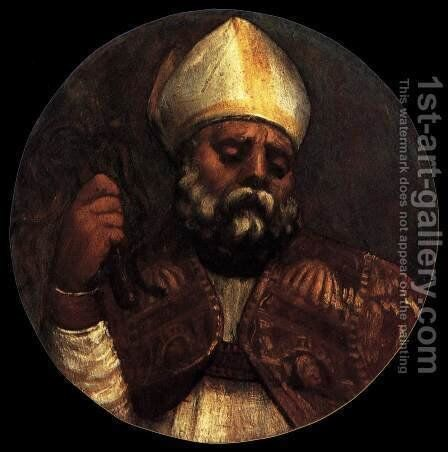 St Ambrose by Tiziano Vecellio (Titian) - Reproduction Oil Painting