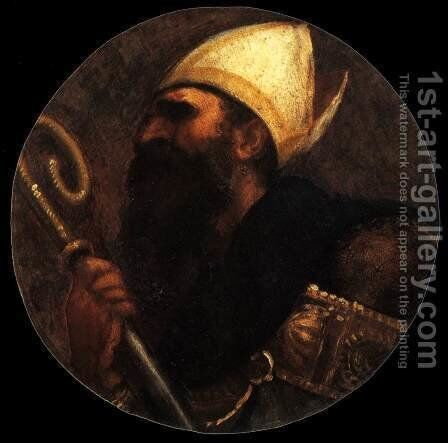 St Augustine by Tiziano Vecellio (Titian) - Reproduction Oil Painting
