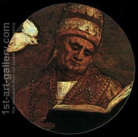 St Gregory the Great by Tiziano Vecellio (Titian) - Reproduction Oil Painting