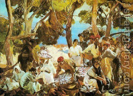 The Fish (Catalonia) by Joaquin Sorolla y Bastida - Reproduction Oil Painting