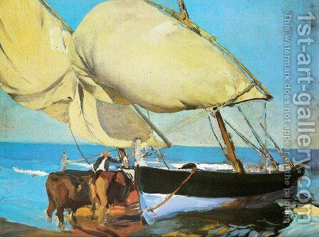The sails by Joaquin Sorolla y Bastida - Reproduction Oil Painting