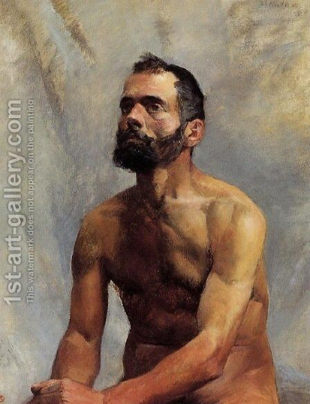 Academic Study 'Nude' by Toulouse-Lautrec - Reproduction Oil Painting