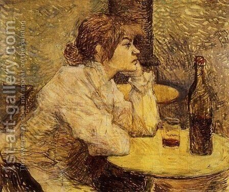 Hangover (The Drinker) by Toulouse-Lautrec - Reproduction Oil Painting