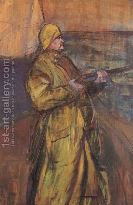 Maurice Joyant with a shotgun by Toulouse-Lautrec - Reproduction Oil Painting