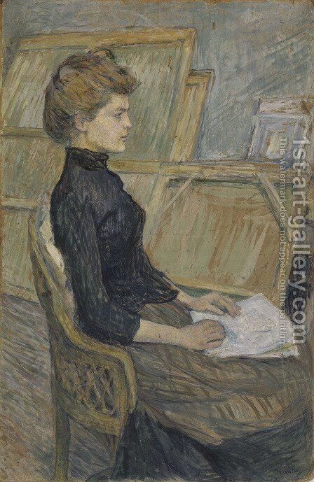 Model study, Helene Vary by Toulouse-Lautrec - Reproduction Oil Painting