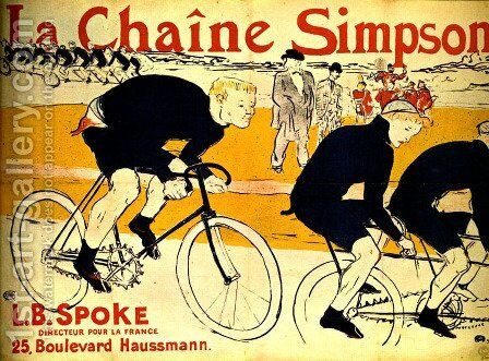 The chain Simpson by Toulouse-Lautrec - Reproduction Oil Painting