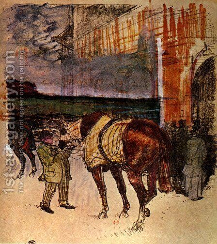 The fence weight by Toulouse-Lautrec - Reproduction Oil Painting