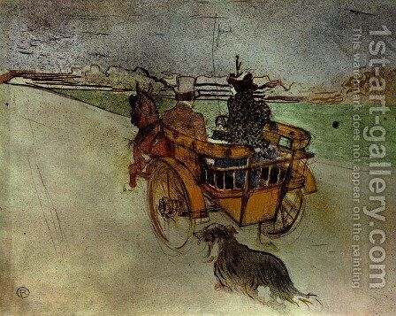 The outing campaign by Toulouse-Lautrec - Reproduction Oil Painting