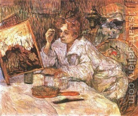 Woman at Her Toilette 1 by Toulouse-Lautrec - Reproduction Oil Painting
