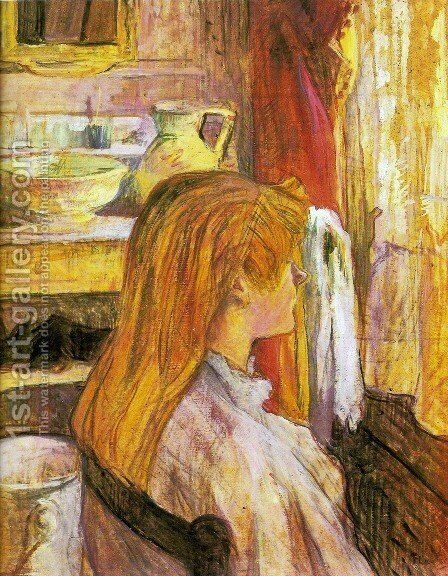 Woman at the window by Toulouse-Lautrec - Reproduction Oil Painting