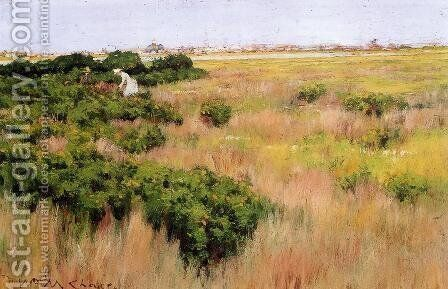 Landscape, near Coney Island by William Merritt Chase - Reproduction Oil Painting