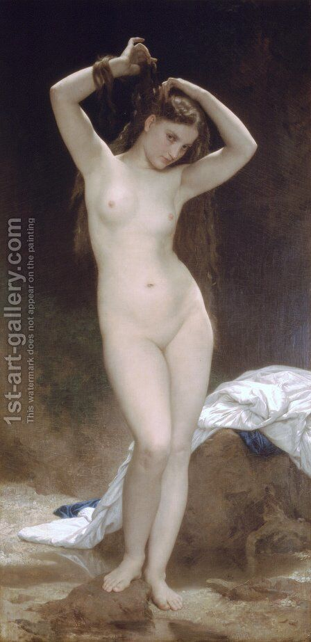 Baigneuse [Bather] by William-Adolphe Bouguereau - Reproduction Oil Painting