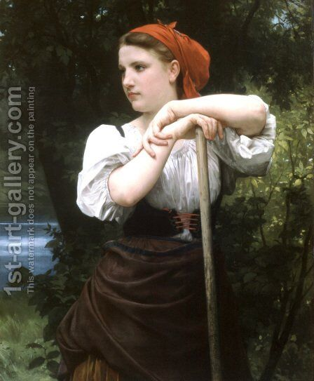 Faneuse [The Haymaker] by William-Adolphe Bouguereau - Reproduction Oil Painting