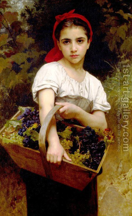 Vendangeuse [The Grape Picker] by William-Adolphe Bouguereau - Reproduction Oil Painting