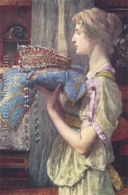 A Crown by Sir Lawrence Alma-Tadema - Reproduction Oil Painting
