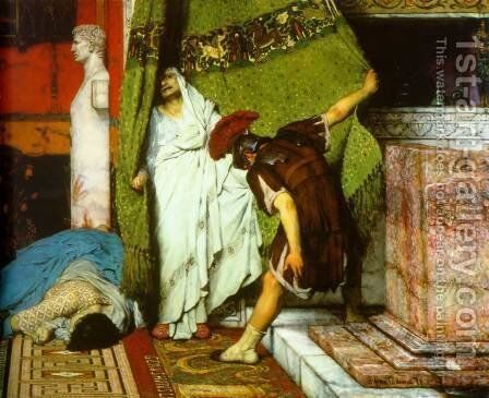 A Roman Emperor AD41 (detail I) by Sir Lawrence Alma-Tadema - Reproduction Oil Painting