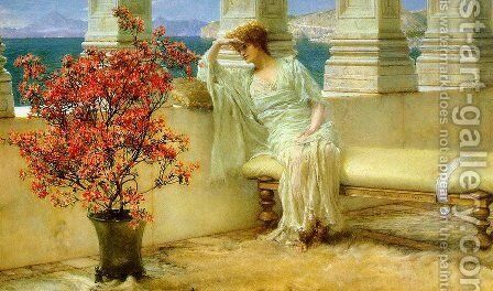 Her Eyes are with Her Thoughts and They are Far Away by Sir Lawrence Alma-Tadema - Reproduction Oil Painting