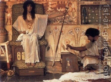 Joseph, Overseer of Pharaoh's Graneries by Sir Lawrence Alma-Tadema - Reproduction Oil Painting