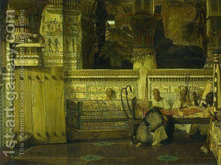 Thee Egyptian widow by Sir Lawrence Alma-Tadema - Reproduction Oil Painting