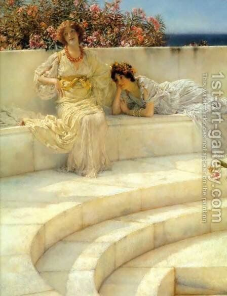 Under the Roof of Blue Ionian Weather (detail) by Sir Lawrence Alma-Tadema - Reproduction Oil Painting