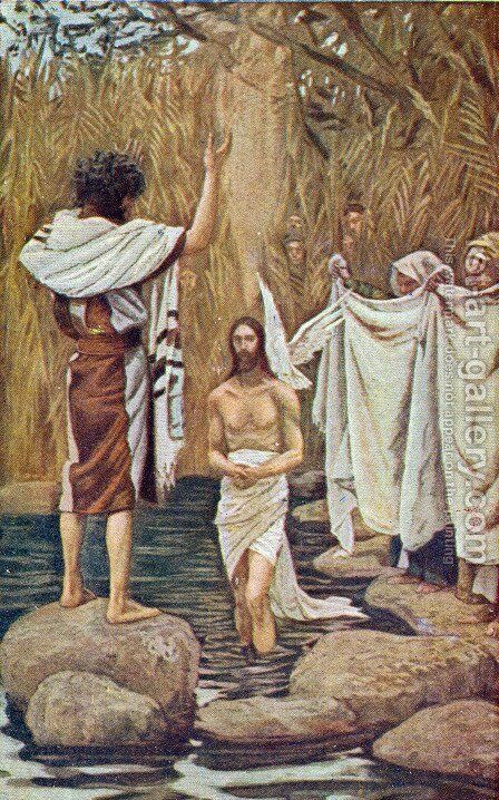Baptism of Jesus by James Jacques Joseph Tissot - Reproduction Oil Painting