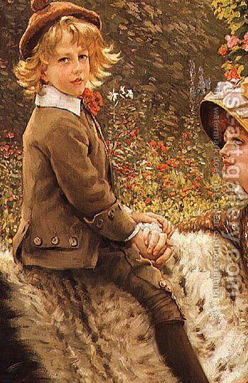 The Garden Bench (detail 2) by James Jacques Joseph Tissot - Reproduction Oil Painting