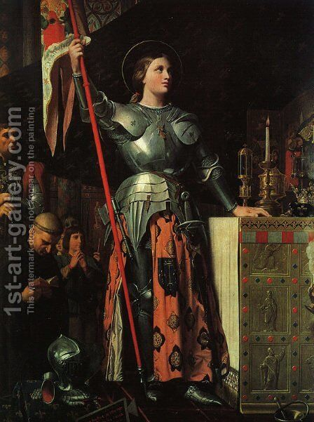 Joan of Arc at the Coronation of Charles VII by Jean Auguste Dominique Ingres - Reproduction Oil Painting