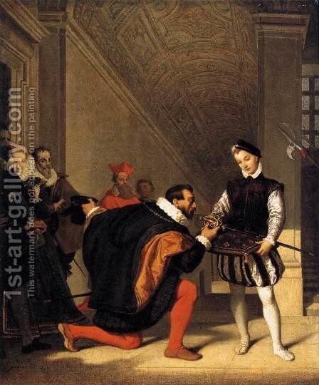 The Sword of Henry IV by Jean Auguste Dominique Ingres - Reproduction Oil Painting