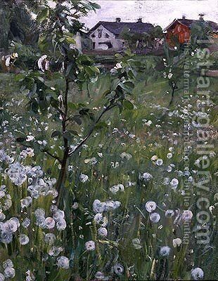 Dandelions by Anders Zorn - Reproduction Oil Painting