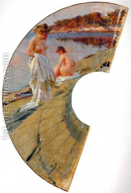 Les baigneuses by Anders Zorn - Reproduction Oil Painting