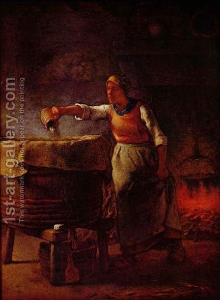 Laundress by Jean-Francois Millet - Reproduction Oil Painting