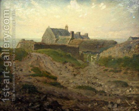 Priory at Vauville, Normandy by Jean-Francois Millet - Reproduction Oil Painting