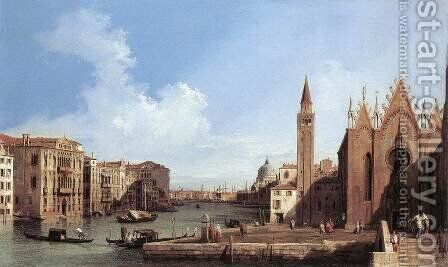 Grand Canal, from Santa Maria della Carità to the Bacino di San Marco by (Giovanni Antonio Canal) Canaletto - Reproduction Oil Painting
