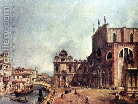 The Church of Saints John and Paul by (Giovanni Antonio Canal) Canaletto - Reproduction Oil Painting