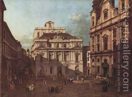 View from Vienna, the square in front of the University of South-East of view, with the large auditorium of the Univ by (Giovanni Antonio Canal) Canaletto - Reproduction Oil Painting