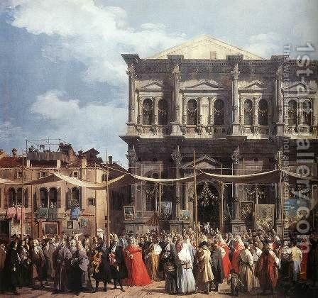 The Feast Day of St Roch (detail) by (Giovanni Antonio Canal) Canaletto - Reproduction Oil Painting