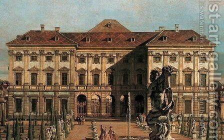 The Liechtenstein Garden Palace, garden side (detail) by (Giovanni Antonio Canal) Canaletto - Reproduction Oil Painting