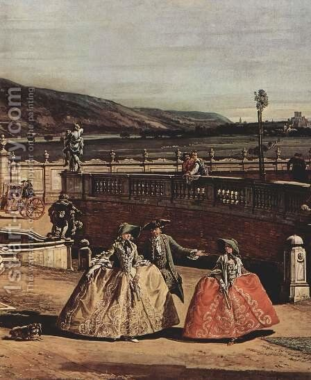 View from Vienna, castle, with honor main view of the Castle, detail by (Giovanni Antonio Canal) Canaletto - Reproduction Oil Painting