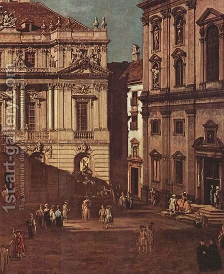 View from Vienna, the square in front of the University of South-East, detail by (Giovanni Antonio Canal) Canaletto - Reproduction Oil Painting
