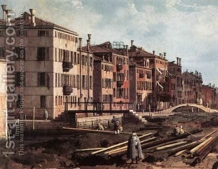 View of San Giuseppe di Castello (detail) by (Giovanni Antonio Canal) Canaletto - Reproduction Oil Painting
