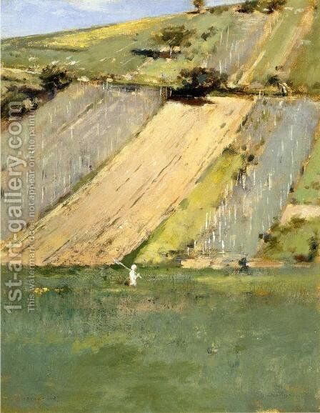 Valley of the Seine, Giverny by Theodore Robinson - Reproduction Oil Painting