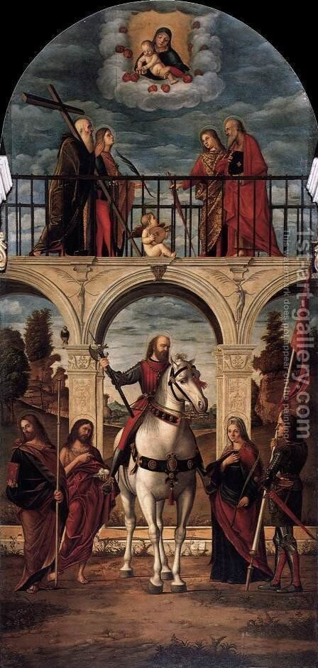 Glory of St Vitalis by Vittore Carpaccio - Reproduction Oil Painting