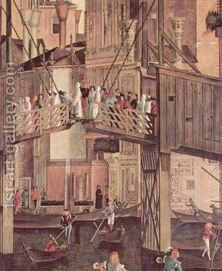 The miracle of the holy cross Reliquie, detail 1 by Vittore Carpaccio - Reproduction Oil Painting