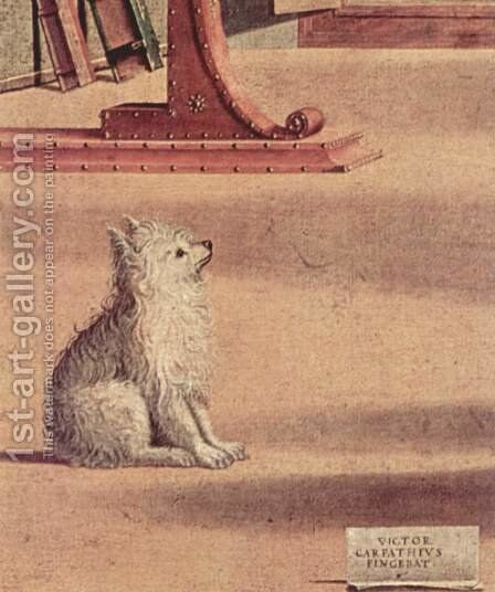 Vision of St Augustin (detail 11) by Vittore Carpaccio - Reproduction Oil Painting