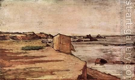 Beach hut by Giovanni Fattori - Reproduction Oil Painting