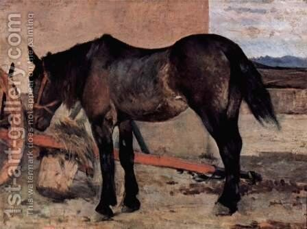 Before a horse carriage by Giovanni Fattori - Reproduction Oil Painting