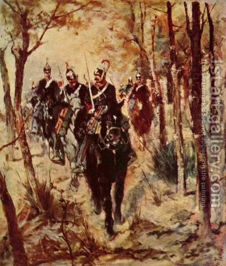 Cavalrymen by Giovanni Fattori - Reproduction Oil Painting