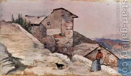 Farm in the hills by Giovanni Fattori - Reproduction Oil Painting